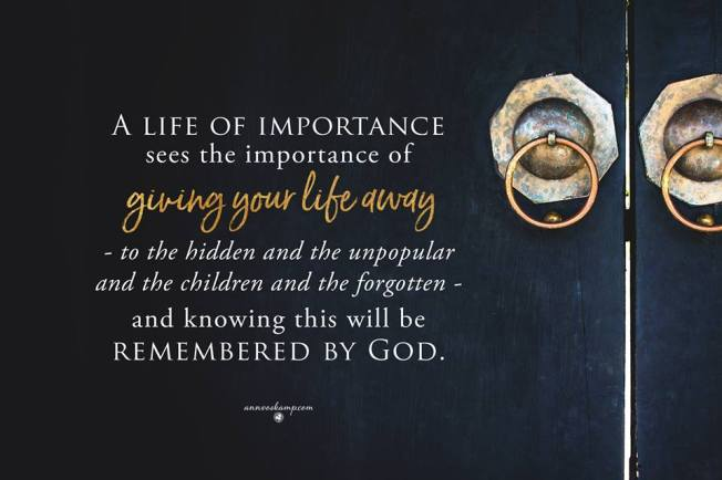 remembered by God